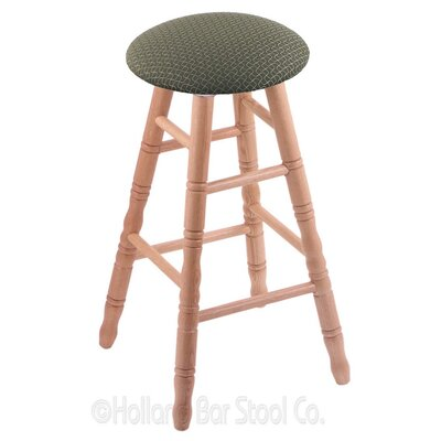 30 Swivel Bar Stool Finish: Natural Oak, Upholstery: Axis Grove