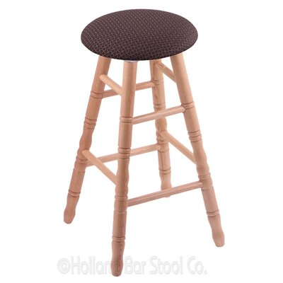 24 Swivel Bar Stool Finish: Natural Oak, Upholstery: Axis Truffle