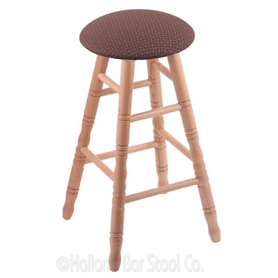 24 inch Swivel Bar Stool Upholstery: Axis Willow, Finish: Natural Oak