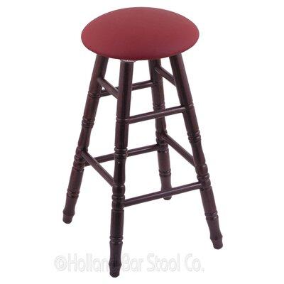 "Holland Bar Stool 36"" Swivel Bar Stool with Cushion - Finish: Dark Cherry Oak, Seat Color: Allante Wine at Sears.com"