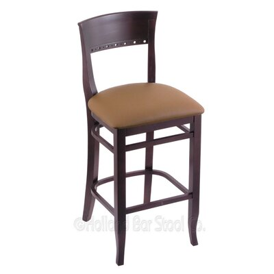 25 Bar Stool Finish: Dark Cherry, Upholstery: Allante Beechwood