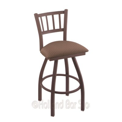 Contessa 36 Swivel Bar Stool Finish: Bronze, Upholstery: Axis Willow