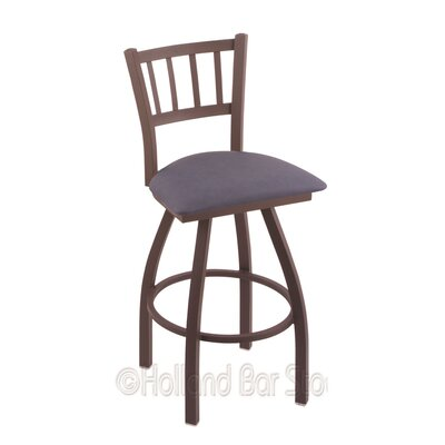 Contessa 30 Swivel Bar Stool Finish: Bronze, Upholstery: Rein Bay