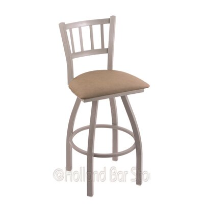 Contessa 30 Swivel Bar Stool Finish: Anodized Nickel, Upholstery: Rein Thatch
