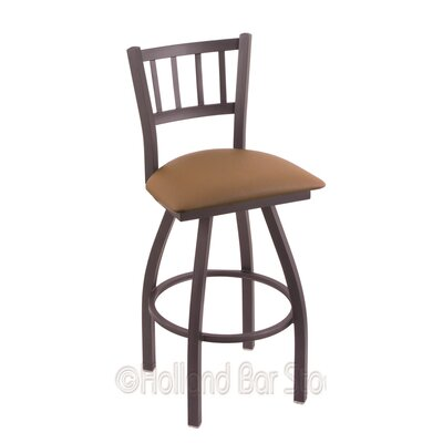Contessa 25 Swivel Bar Stool Finish: Pewter, Upholstery: Allante Beechwood