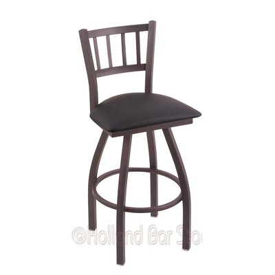 Contessa 30 Swivel Bar Stool Finish: Pewter, Upholstery: Allante Dark Blue