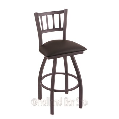 Contessa 30 Swivel Bar Stool Finish: Pewter, Upholstery: Allante Espresso