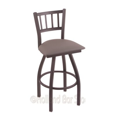 Contessa 36 Swivel Bar Stool Finish: Pewter, Upholstery: Allante Medium Grey
