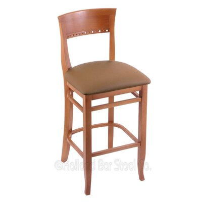 25 Bar Stool Finish: Medium, Upholstery: Allante Beechwood