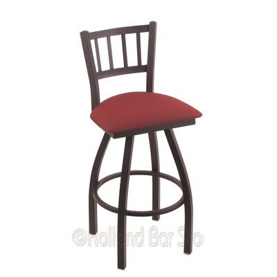 Contessa 25 Swivel Bar Stool Finish: Black Wrinkle, Upholstery: Allante Wine