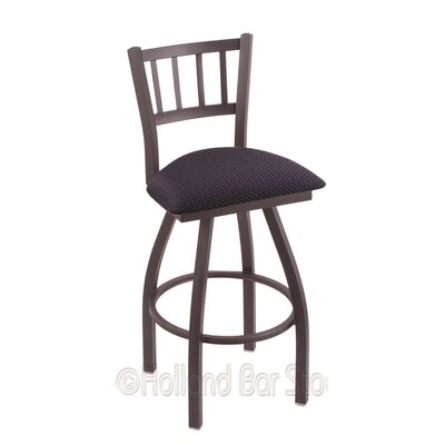 Contessa 36 Swivel Bar Stool Finish: Pewter, Upholstery: Axis Denim