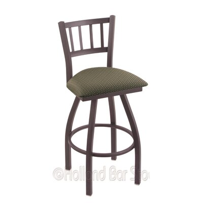 Contessa 25 Swivel Bar Stool Finish: Pewter, Upholstery: Axis Grove