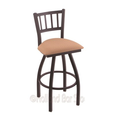 Contessa 36 Swivel Bar Stool Finish: Black Wrinkle, Upholstery: Axis Summer