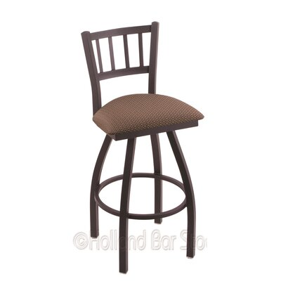 Contessa 25 Swivel Bar Stool Upholstery: Axis Willow, Finish: Black Wrinkle