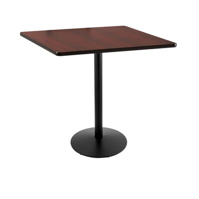 42 Pub Table Tabletop Size: 36 x 36, Finish: Black