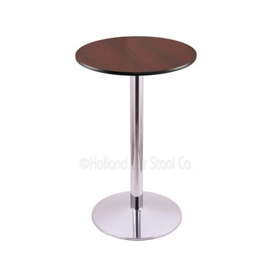 42 Pub Table Tabletop Size: 24 Dia, Finish: Chrome