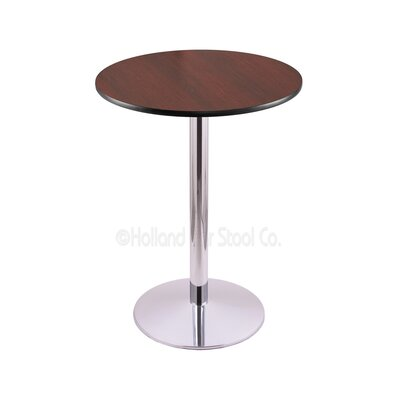 36 Pub Table Color: Chrome, Tabletop Size: 30 Dia