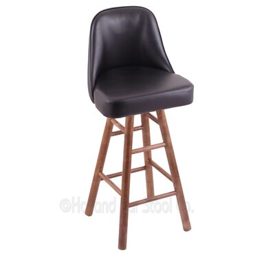 Grizzly 30 Swivel Bar Stool Base Finish: Medium Maple