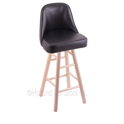 Grizzly Swivel Bar Stool Base Finish: Natural Maple