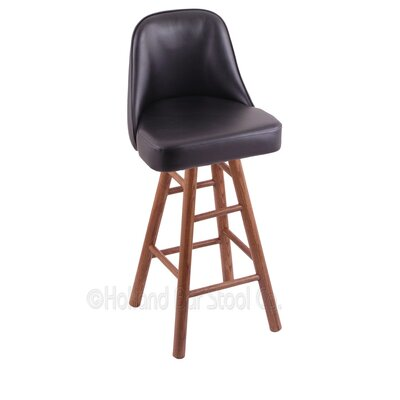 Grizzly 30 Swivel Bar Stool Base Finish: Medium Oak