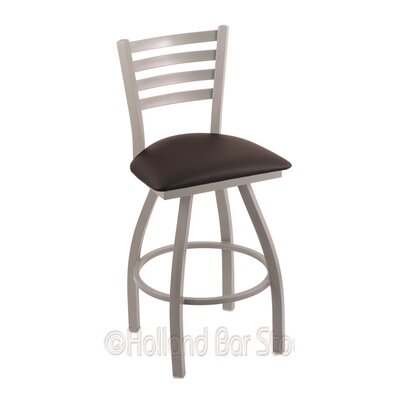 Jackie 36 Swivel Bar Stool Finish: Anodized Nickel, Upholstery: Allante Espresso