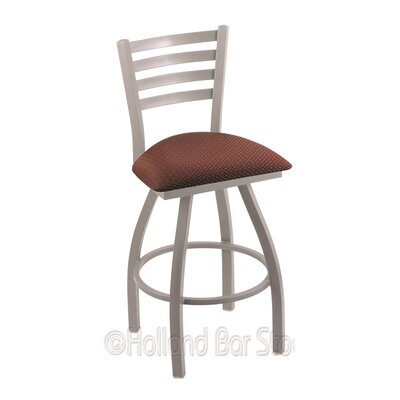 Jackie 36 Swivel Bar Stool Finish: Anodized Nickel, Upholstery: Axis Paprika