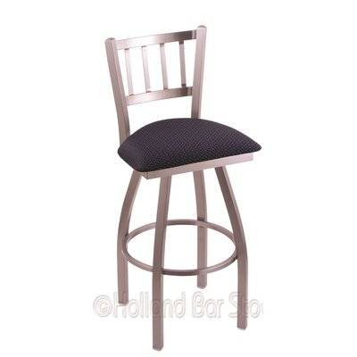 Contessa 36 Swivel Bar Stool Upholstery: Axis Denim, Finish: Stainless