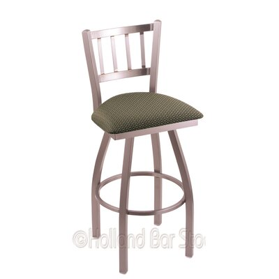 Contessa 36 Swivel Bar Stool Upholstery: Axis Grove, Finish: Stainless