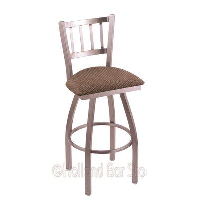 Contessa 25 Swivel Bar Stool Upholstery: Axis Willow, Finish: Stainless