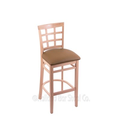 30 Bar Stool Finish: Natural, Upholstery: Allante Beechwood