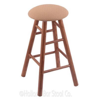 24 Swivel Bar Stool Finish: Medium Oak, Upholstery: Axis Summer
