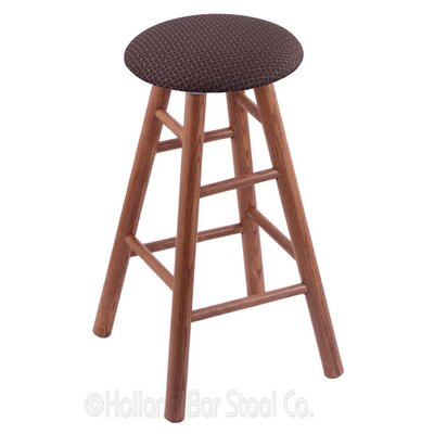 24 Swivel Bar Stool Finish: Medium Oak, Upholstery: Axis Truffle