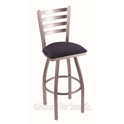 Jackie 25 Swivel Bar Stool Upholstery: Axis Denim, Finish: Stainless