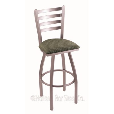 Jackie 30 Swivel Bar Stool Finish: Stainless, Upholstery: Axis Grove