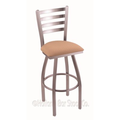 Jackie 30 Swivel Bar Stool Finish: Stainless, Upholstery: Axis Summer