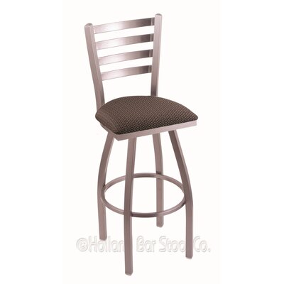 Jackie 30 Swivel Bar Stool Upholstery: Axis Truffle, Finish: Stainless