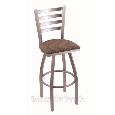 Jackie 30 Swivel Bar Stool Finish: Stainless, Upholstery: Axis Willow