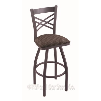 Catalina 36 Swivel Bar Stool Finish: Pewter, Upholstery: Axis Truffle