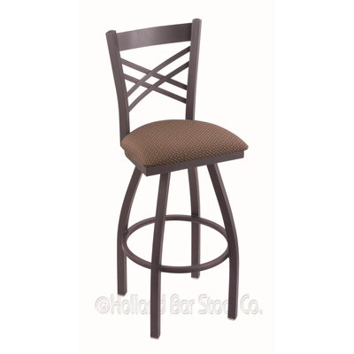 Catalina 36 inch Swivel Bar Stool Upholstery: Axis Willow, Finish: Pewter