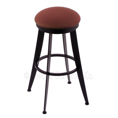 Laser 25 Swivel Bar Stool Upholstery: Axis Paprika