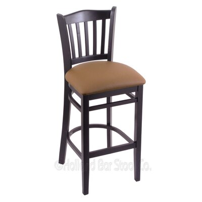 25 Bar Stool Finish: Black, Upholstery: Allante Beechwood