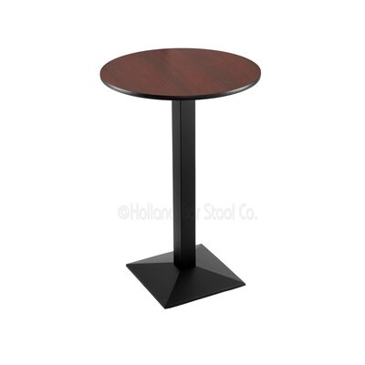 36 Pub Table Tabletop Size: 24 Dia, Finish: Black