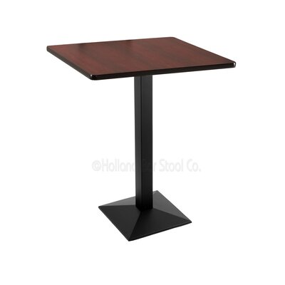 42 inch Pub Table Tabletop Size: 30 inch x 30 inch, Finish: Black