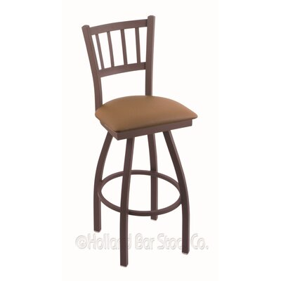 Contessa 36 Swivel Bar Stool Finish: Bronze, Upholstery: Allante Beechwood