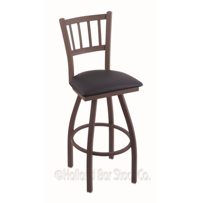 Contessa 36 Swivel Bar Stool Finish: Bronze, Upholstery: Allante Dark Blue