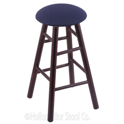 30 Swivel Bar Stool Upholstery: Axis Denim, Finish: Dark Cherry Maple