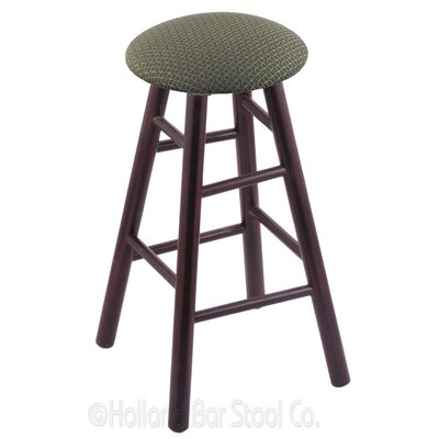 30 Swivel Bar Stool Finish: Dark Cherry Maple, Upholstery: Axis Grove