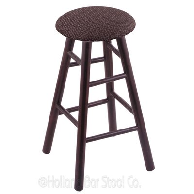 30 Swivel Bar Stool Upholstery: Axis Truffle, Finish: Dark Cherry Maple