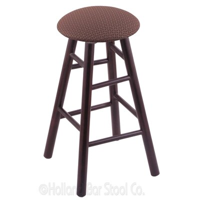 36 Swivel Bar Stool Finish: Dark Cherry Maple, Upholstery: Axis Willow