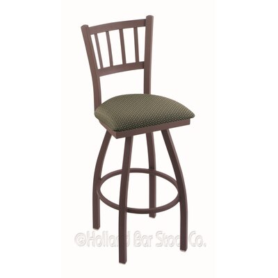 Contessa 25 inch Swivel Bar Stool Upholstery: Axis Grove, Finish: Bronze